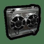 1963 – 1966 Chevy Pickup LSX Conversion Aluminum Radiator – Dual HPX Fans