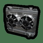 1963 – 1966 Chevy Pickup Aluminum Radiator – Dual HPX Fans