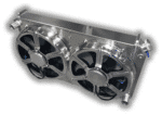 1968 – 1977 GTO + Lemans 900 Horsepower Cooling Power Radiator – Dual 16″ HPX Fans