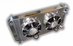 1970- 1981 Firdbird/TA LSX Conversion Aluminum Radiator With Dual HP Fans And Aluminum Shroud