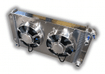 1968 – 1977 Chevelle/A-Body Aluminum LSX Conversion Radiator With Dual Fans And Aluminum Shroud
