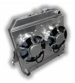 2004 – 2012 Chevy Colorado – GMC Canyon – H3 Hummer Aluminum Radiator – Dual HPX Fans